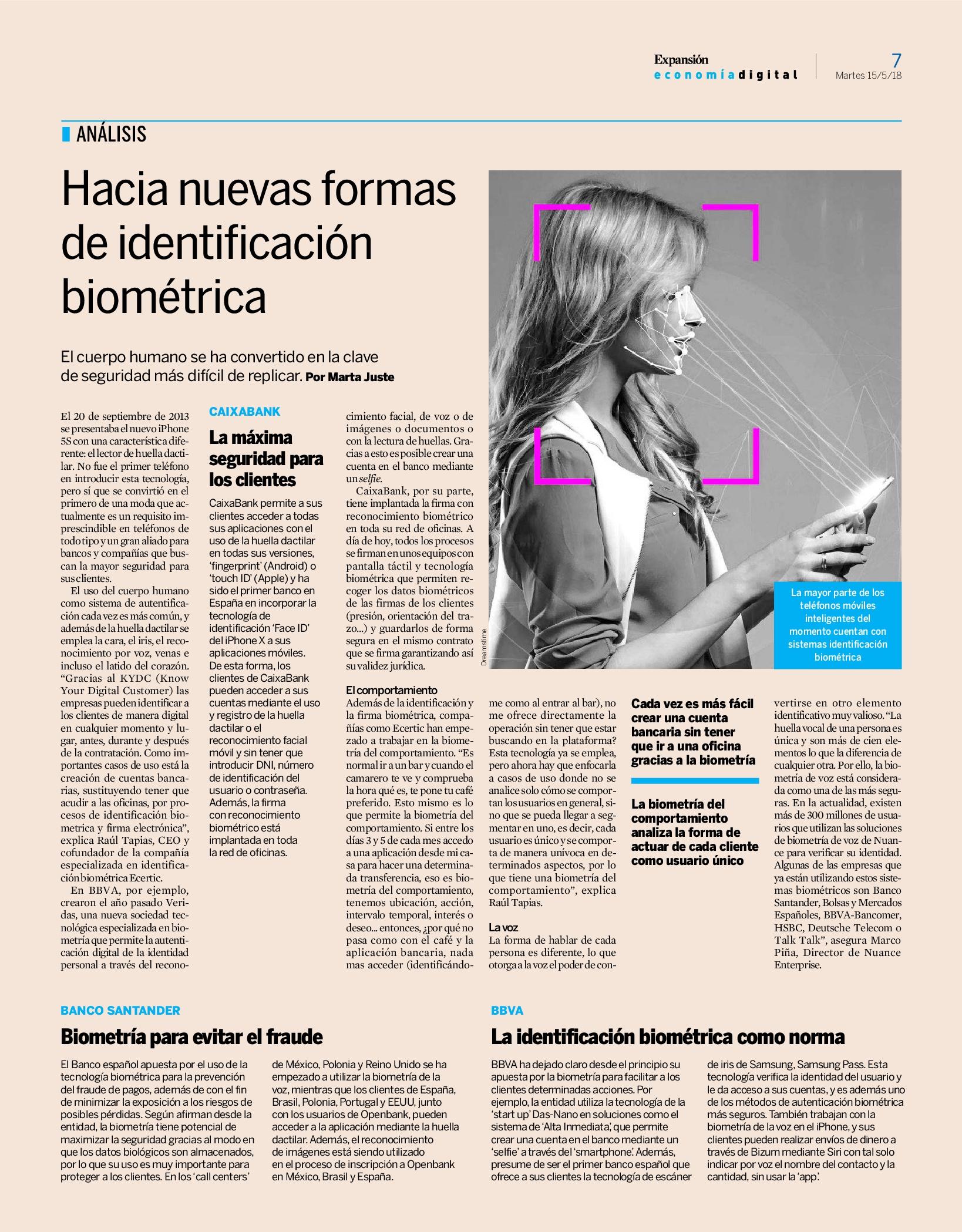 identificación biométrica Ecertic