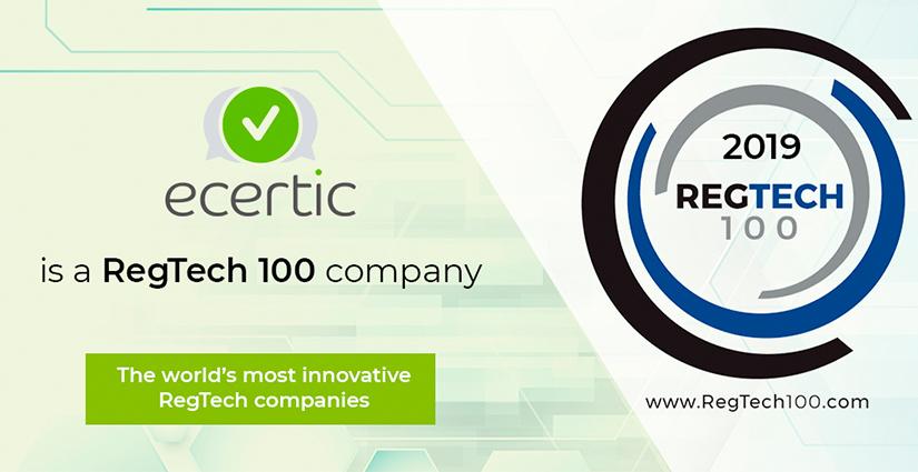 RegTech 100 2019 Ecertic